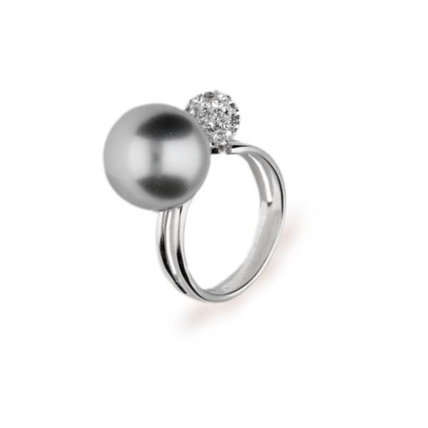 Серебряное кольцо Spark Charm Pearl со Swarovski модели PCP12K6LGC