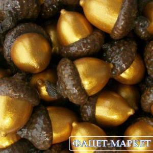 Фото Натуральные материалы - Эко, Желуди для декора Жёлуди декоративные цвета золота