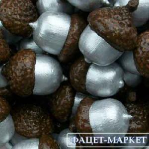 Фото Натуральные материалы - Эко, Желуди для декора Жёлуди декоративные цвета серебра