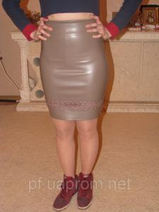Фото Юбки Юбка экокожа с гипюром