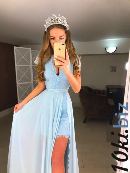 Мереживне плаття міні з шифоновою спідницею максі купить в Ивано-Франковске - Платья в пол, макси платья