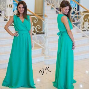 Фото Максі плаття Шифонове максі