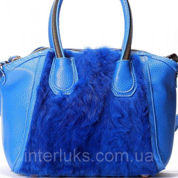 Женская сумка 911737 синяя распродажа