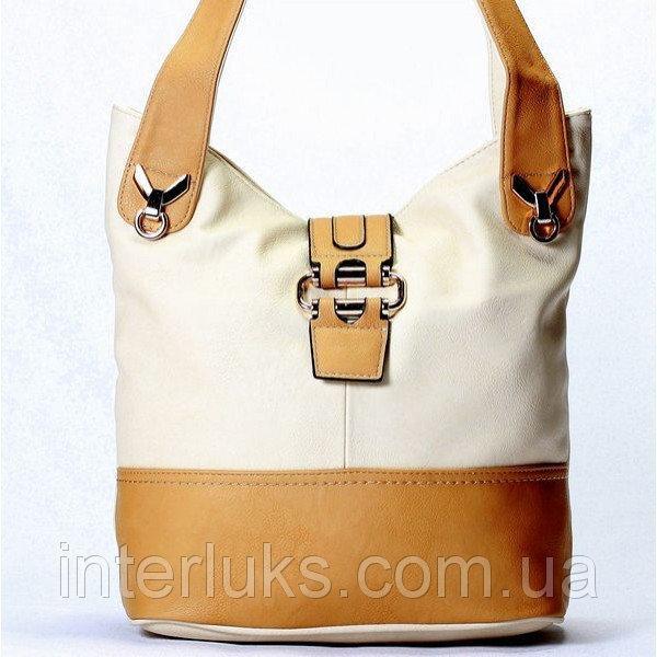 Женская сумка Giorgio Ferrilli J13400B бежевая