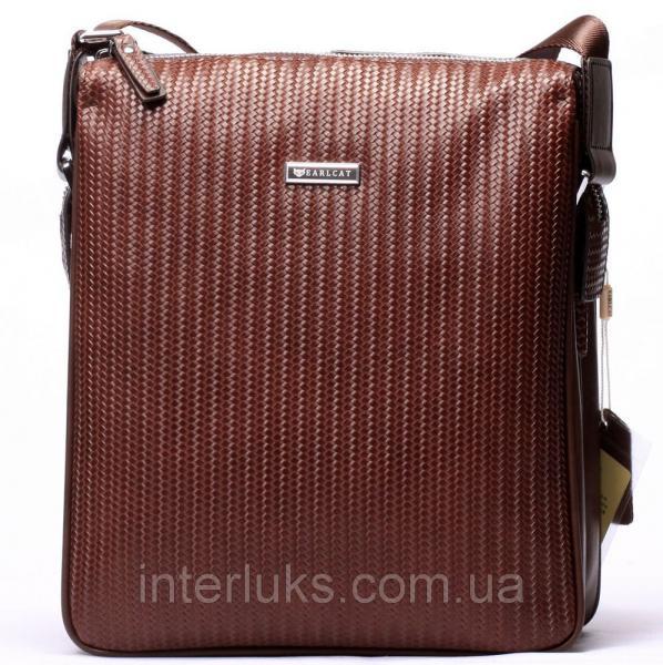 Мужская сумка EARLCAT1317-4 бордово-коричневая