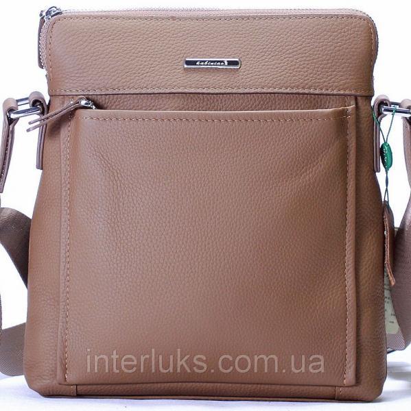 Мужская сумка 8001-1 серо-коричневая