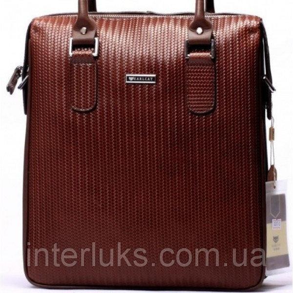 Мужской портфель EARLCAT1317-3 бордово-коричневый