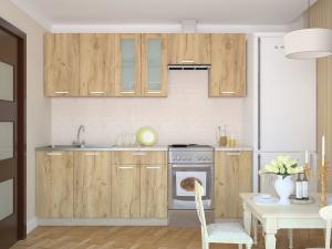 Фото КУХНИ Кухня Мила 1.4 дуб золотой