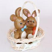 Фигура Кролики в корзине