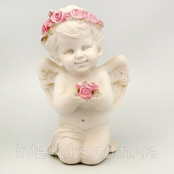 Фигурка декоративная ангелочек, 10х9х5 см
