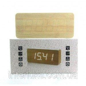 Настольные электронные часы c будильником DW-1292 LED-Blue