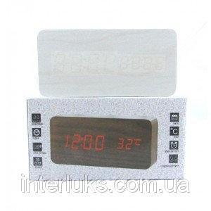 Настольные электронные часы c будильником DW-1299 LED-Green