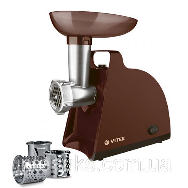 Мясорубка Vitek 1700 Вт, номинал 300 Вт, производительность 1,5 кг/мин