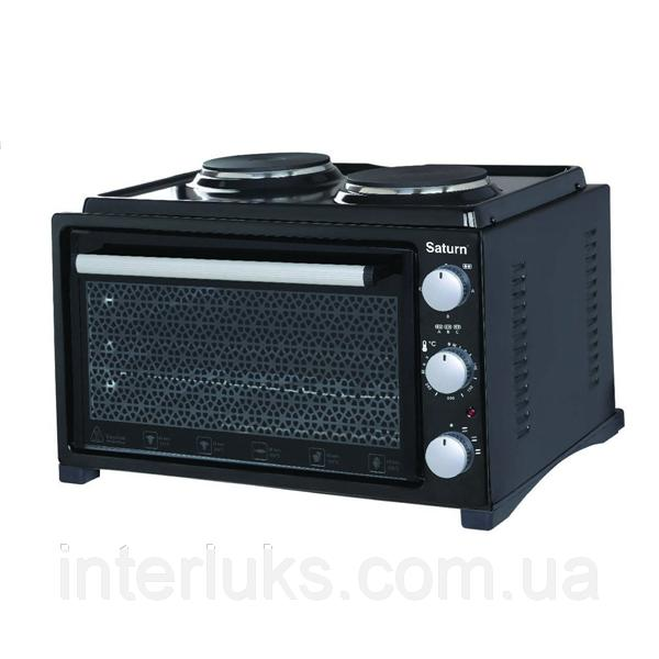 Тостер-печь, 36л+2 блина,гриль SATURN ST-EC10703BLACK