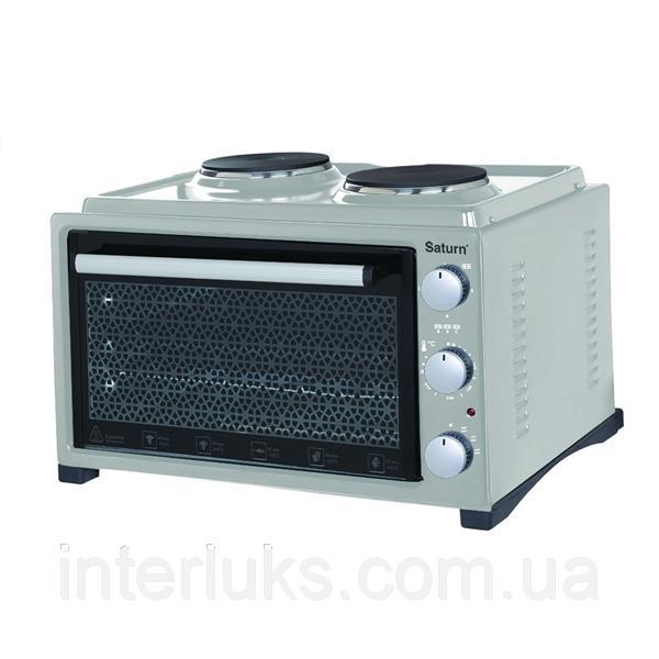 Тостер-печь, 36л+2 блина,гриль SATURN ST-EC10703GREY