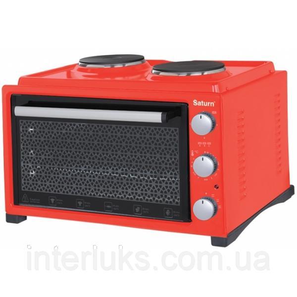 Тостер-печь, 36л+2 блина,гриль SATURN ST-EC10703RED