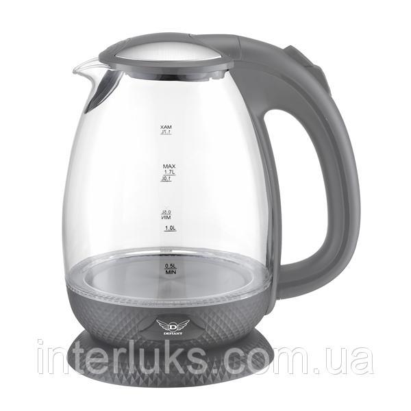 Чайник электрический стекло (1,7 л; 2 кВт) DEFIANT DEK2000-171GL