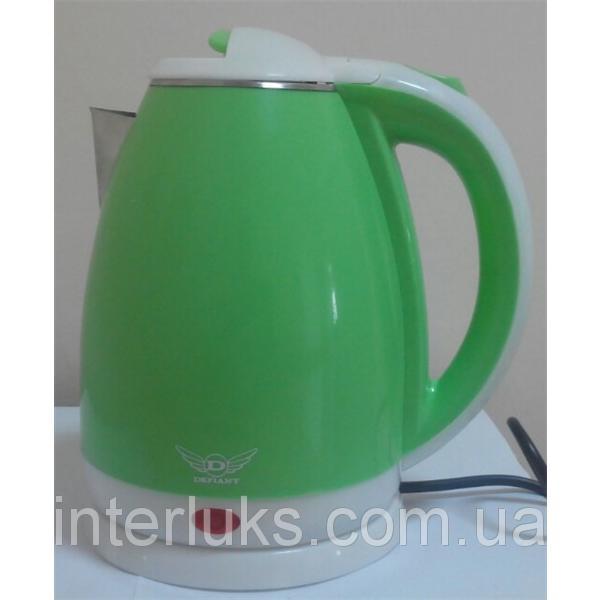 Чайник электрический нерж. с пластиковым покрытием (1,8 л; 2 кВт)