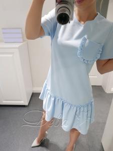 Фото Платья Платье летнее с рюшами и карманом №242