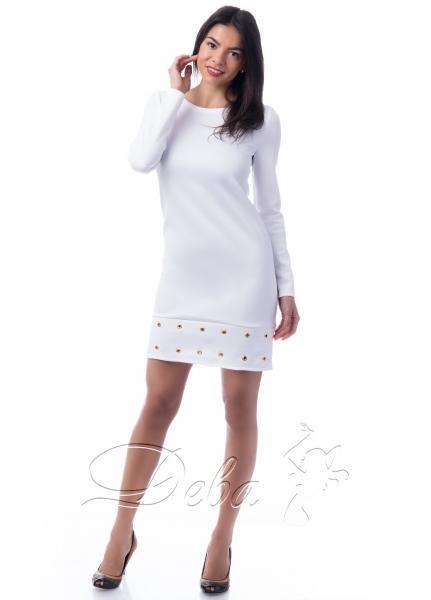 Платье из дайвинга с блочками №218