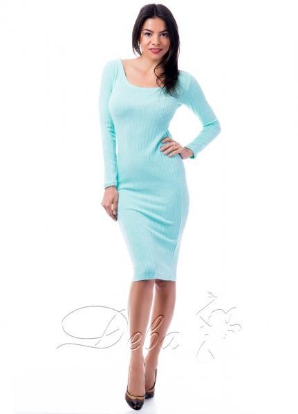 Платье из ангоравого рубчика№214