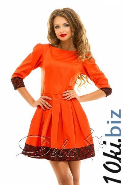 Платье из мемори коттона с кружевом №204 Короткие платья, мини платья на 7км Одесса