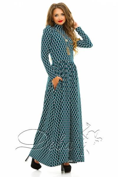 Платье с сотами в пол №194
