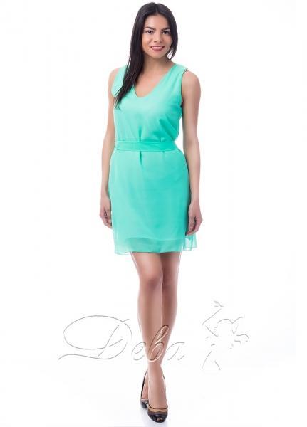 Платье из шифона декольте №167