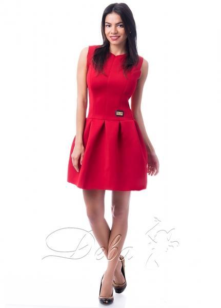 Платье из неопрена с декольте №153