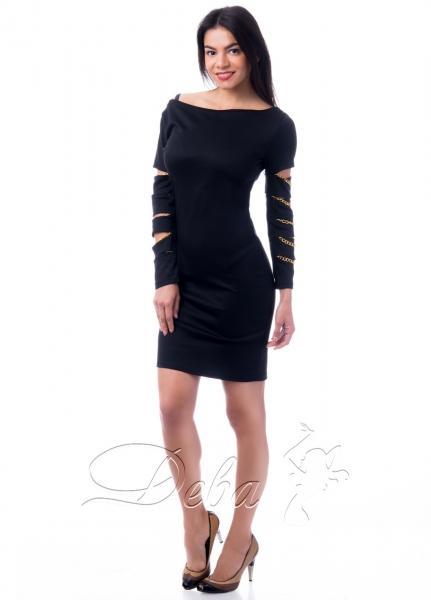 Платье декорирована цепочками №141