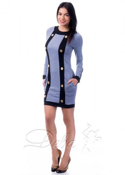 Платье из трикотажа с пуговицами №127