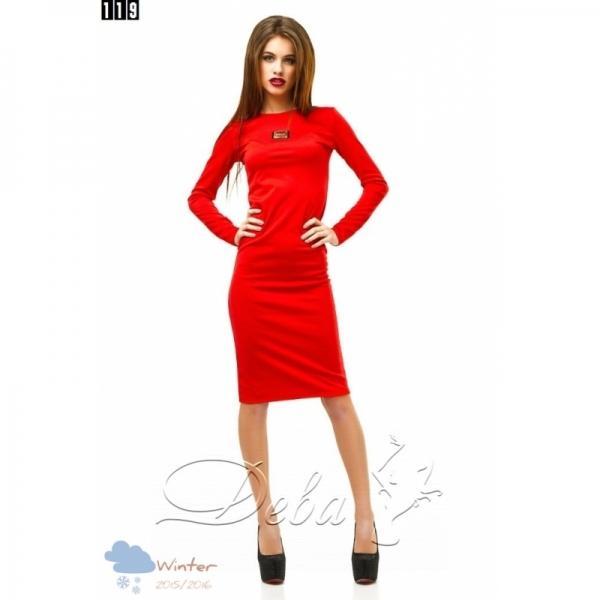 Платье из джерси с декором №119