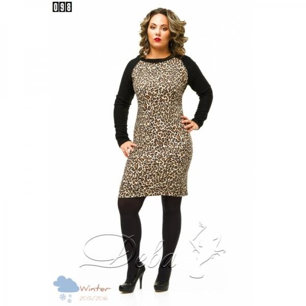 Платье батальное леопардовое №098