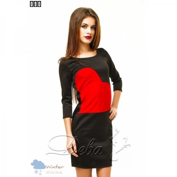 Платье стрейч с сердцем №090