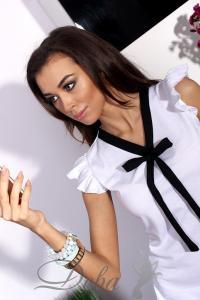 Фото Верхняя одежда Блузка белая с бантиком №089