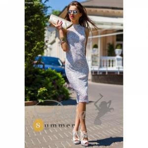 Фото Платья Платье из гипюра с открытой спиной №070
