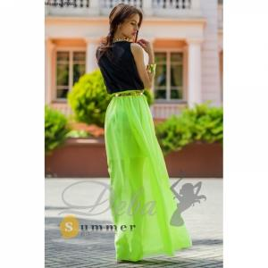 Фото Платья Платье салатовая юбка в пол №066