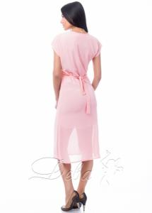 Фото Платья Платье персиковое из креп - шифона №064