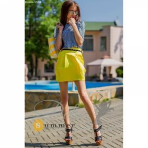 Фото Костюмы Женский костюм лимонная юбка №054