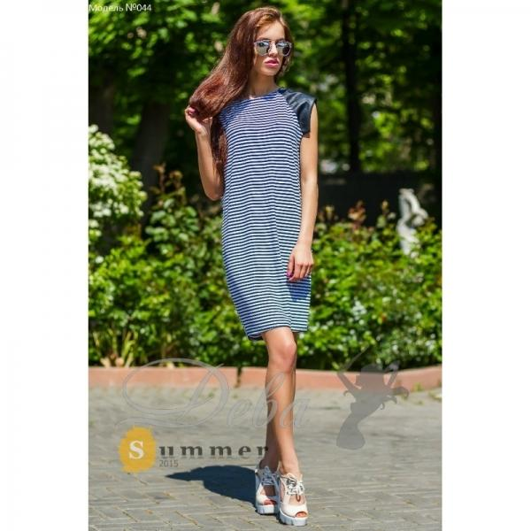 Платье полосатое из вискозы №044