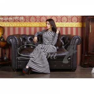 Фото Платья Платье в полоску в пол №038