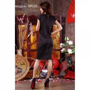 Фото Платья Платье из дайвинга с декор. змейкой №026