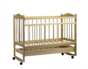 Детская кроватка Мишутка-14 (колесо + качалка + ящик)