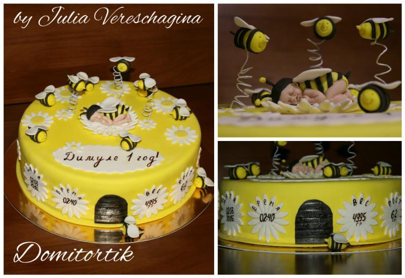 """Тортик """"Пчелки"""""""