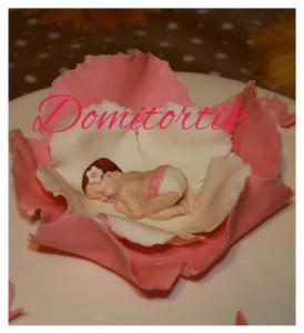 Фото  Тортик по случаю рождения девочки