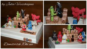 Фото Торты, Детские торты Торт LEGO Ninjago (ЛЕГО Ниндзяго) с башней