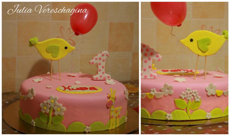 Торт Птичка и жирафик