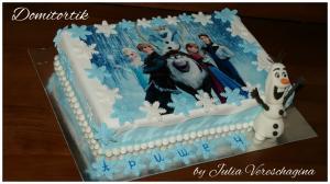 Фото Торты, Детские торты Торт Холодное сердце (Олаф)