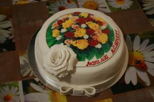 Фото Торты, Фототорт (торт с картинкой) Торт Цветочный