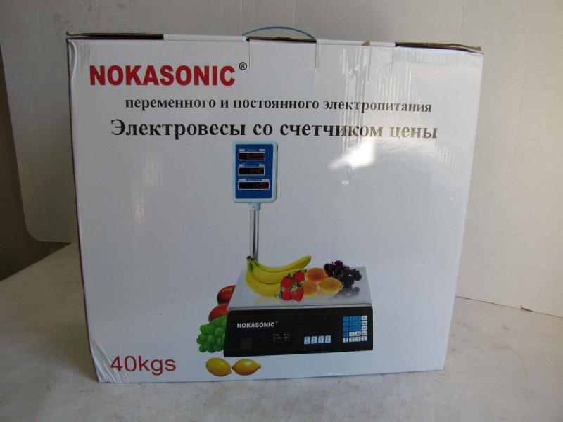 Весы торговые со стойкой Nokasonic 40кг